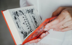 Picture hands, book, page