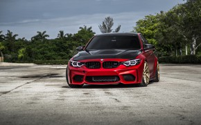 Wallpaper Sight, BMW, F80, LED, Evel, Carbon, RED