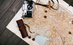 Picture map, The camera, journey, Spices