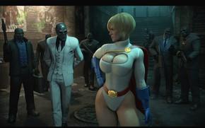 Picture chest, girl, feet, costume, the bandits, cloak, dc comics, DC Comics, black mask, Roman Sionis, …