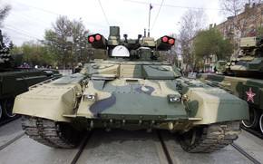 Picture armor, Terminator 2, Victory Parade, BMPT-72, Russian Weapons, the fighting vehicle of support of tanks, …