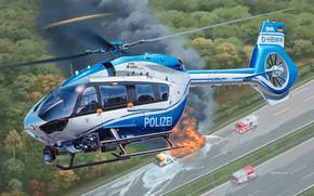 Picture Police, Airbus, multi-purpose helicopter, polizei, H145