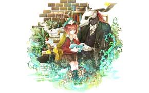Picture romance, anime, art, Mahou Tsukai no Yome, Bride of the sorcerer