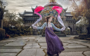 Picture girl, dance, Asian