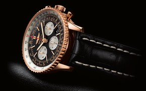 Picture time, arrows, watch, background black, watch, Breitling, Navitimer, chronometer, chronometre