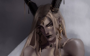 Picture the demon, horns, succubus
