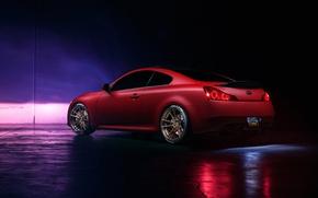 Picture Infiniti, Orange, Car, G37, Wheels, Rear, Rohana