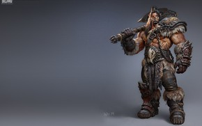 Picture weapons, art, Orc, The Art of Warcraft, Wei Wang