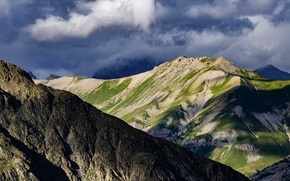 Picture clouds, mountains, France, National Park, Acreen