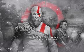 Picture game, demigod, weapon, Kratos, God of War, man, bow, spartan, Loki, god, arrow, powerful, strong, …