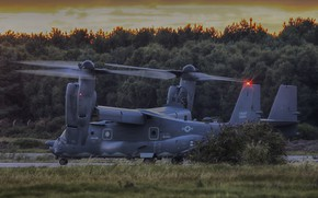 Picture the evening, the rise, Osprey, Bell CV-22B