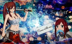 Picture sword, fairy tail, Elsa scarlet, fairy tail, ezra scarlet