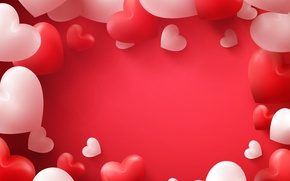 Picture Heart, Balls, Valentine's day, Valentine's Day, Template, Colored background