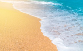 Wallpaper sand, sea, wave, beach, summer, summer, beach, sea, seascape, sand, wave