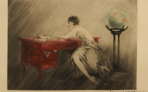 Picture aquarium, 1928, Memories, Louis Icart