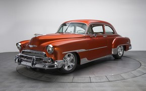 Wallpaper retro, coupe, Chevrolet, Deluxe, 1951, Styleline
