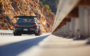 Wallpaper tuning, IX MR, Lancer, rear view, Mitsubishi, Evo, bridge, Evolution