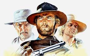 Wallpaper cinema, film, 1965, revolver, weapon, Clint Eastwood, hat, movie, Lee Van Cleef, gun, wester, For ...