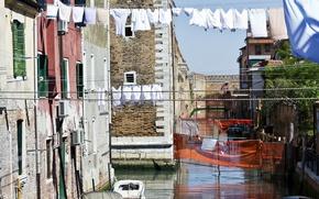 Picture Home, Channel, Italy, Venice, Building, Linen, Italy, Venice, Italia, Venice, Canal