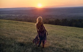 Picture the sun, landscape, dawn, zombies, The Walking Dead, Season 8, Episode 16