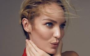Picture model, portrait, blonde, Candice Swanepoel