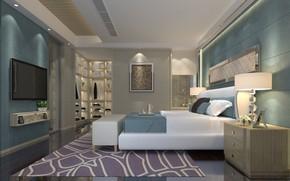 Wallpaper design, interior, bedroom, luxury, bedroom