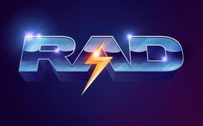 Picture glare, lightning, neon, font, 80s, neon, Rad, 80s neon style