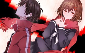 Picture girl, anime, guy, two, Kagerou Project, Project a Sultry mist