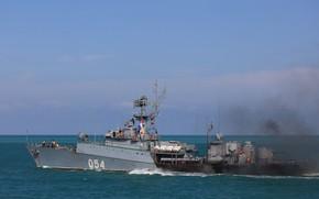 Picture the black sea, Navy, small anti-submarine ship, Yeysk