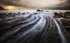 Wallpaper Spain, Barrika, rocks, sea