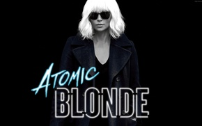 Wallpaper cinema, Charlize Theron, Atomic Blonde, woman, blonde, girl, movie, film