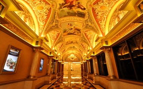 Wallpaper corridor, Las Vegas, USA, the hotel, casino