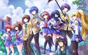 Picture anime, art, characters, Angel Beats!