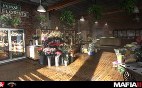 Picture flowers, the room, showcase, Mafia III, flower shop