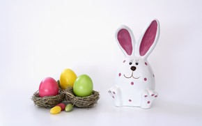 Picture hare, eggs, Easter, eggs