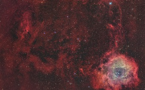 Wallpaper space, stars, space, Rosette Nebula