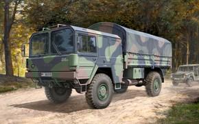 Wallpaper truck, 4x4, MAN, 5 t, mil gl, Truck