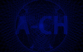 Picture blue, network, logo, ACH