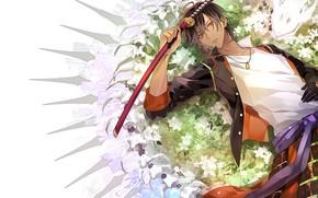 Picture sword, anime, art, guy, Touken Ranbu, Touken ranbu, Dance Of Swords