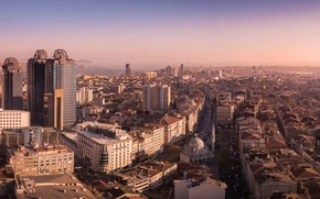 Picture city, Istanbul, Turkey, streets, buildings, horizon, vehicles