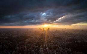 Wallpaper Tokyo, the city, sunset