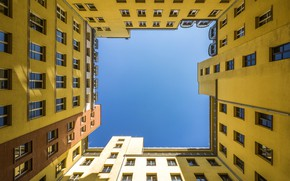 Picture the sky, house, Windows, Germany, well, Berlin