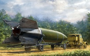 Wallpaper SS100, Vengeance weapon-2, the world's first ballistic missile, Hanomag, The third Reich, weapon of retaliation, ...