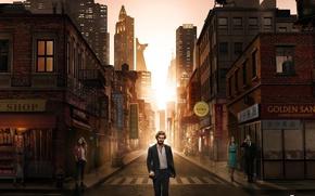 Picture city, street, man, blonde, hero, yuusha, Netflix, Iron Fist, Find Jones