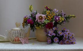 Picture autumn, bouquet, still life, wildflowers, oktyabrisky