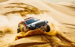 Picture Sand, Mini, Black, Dust, Sport, Desert, Speed, Race, Rally, Rally, The front, Dune, Raid, MINI …