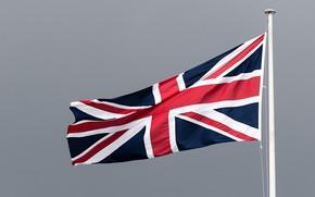 Picture London, Trafalgar Square, British flag