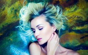 Picture girl, face, background, hair, makeup, Polina Gagarina