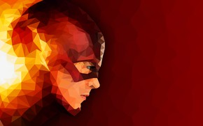 Picture Artwork, The Flash, Low Poly