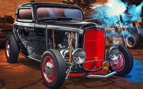 Wallpaper Ford, Hot Rod, Coupe